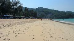 Kata Noi beach in Phuket island Stock Footage