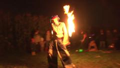 Music and Fire Juggling Stock Footage