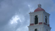 Stock Video Footage of Cuba Church Tower Cloud Timelapse