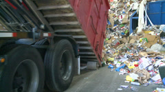 Stock Video Footage of Dump trucks dumping waste (7 of 11)
