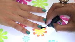 Painting fingernails 2 Stock Footage