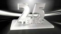 25 Years Silver Anniversary - wipe transition - stock footage