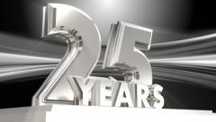 25 Years Silver Anniversary - looping title Stock Footage