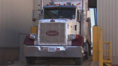Truck parks Stock Footage