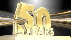 50 Years Golden Anniversary - looping title - stock footage