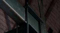 373 big bolts on steel beams rusty rectangular metal Stock Footage