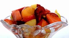 Fruit salad Stock Footage