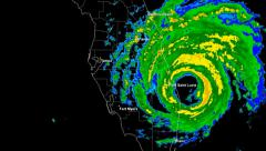 Hurricane Frances (2004) Landfall Time Lapse Stock Footage