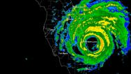 Stock Video Footage of Hurricane Frances (2004) Landfall Time Lapse