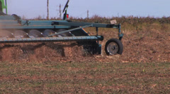 Harvester picks up peanuts from the ground 2 Stock Footage