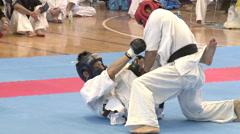 MMA tournament Stock Footage