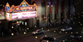 El Capitan Disney Theatre Walk of Fame Hollywood Boulevard Car Traffic Night Lit Footage