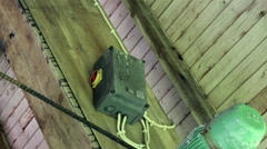 power breaker supply box attached to wooden board - stock footage