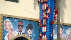 Wax Museum on Hollywood Boulevard Stock Footage