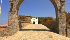 The gate in front of the Christian Church - stock footage
