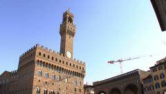 Palazzo Vecchio and Piazza Signoria in Florence Stock Footage