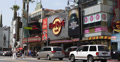 Ultra HD 4K UHD Hollywood Boulevard Hard Rock Cafe Walk of Fame Car Traffic Footage