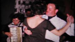 382 - accordion music & dance at house party - vintage film home movie Stock Footage