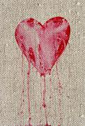 bleeding heart - stock illustration