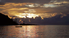 Sunset over the Sea, Indian Ocean Seychelles - stock footage