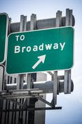 Broadway sign Stock Photos