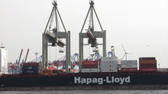 Container Terminal Hamburg Stock Footage
