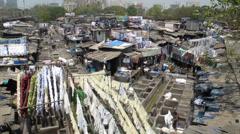 Washing place Mumbai Stock Footage