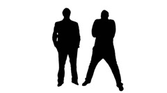 Men posing silhouette - 1080p Stock Footage
