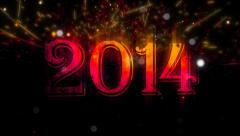 2014 Year Titles 3 Stock Footage