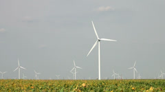 wind farm 01 - stock footage