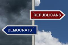 Republicans versus democrats Stock Photos