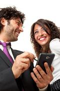 happy mobile technology - stock photo