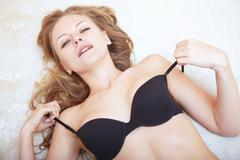 lady in lingerie - stock photo