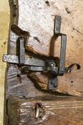 very old door latch - stock photo