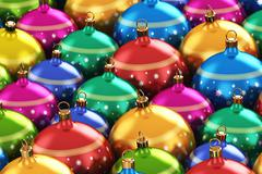 Color Christmas balls - stock illustration
