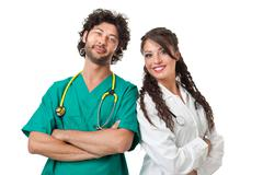 gorgeous physicians - stock photo