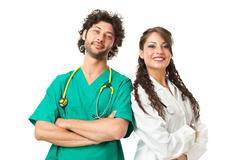 handsome physicians - stock photo