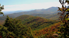 autumn along blue ridge parkway nc 1. - stock footage