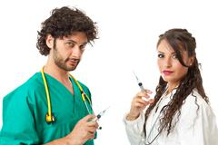 evil doctors - stock photo