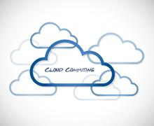 cloud computing illustration design - stock illustration