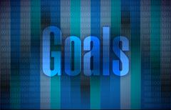Goals and a binary background illustration Stock Illustration