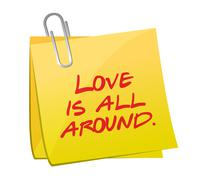 Love is all around post illustration design Stock Illustration