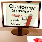 Asiakaspalvelu auttaa mittari näyttää apua ja tukea verkossa Piirros