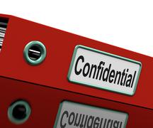 Stock Illustration of confidential file shows private correspondence or documents