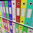 Stock Illustration of shelves of files for getting paperwork organized
