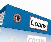 Loans file contains borrowing or lending paperwork Stock Illustration