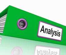 Stock Illustration of analysis file contains data and analyzing documents