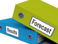 Forecast results files show progress and goals Stock Illustration