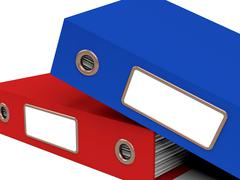 stack of two files for getting office organized - stock illustration
