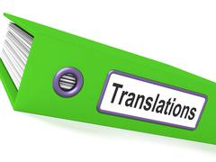 Stock Illustration of translations file showing copy of translated documents
